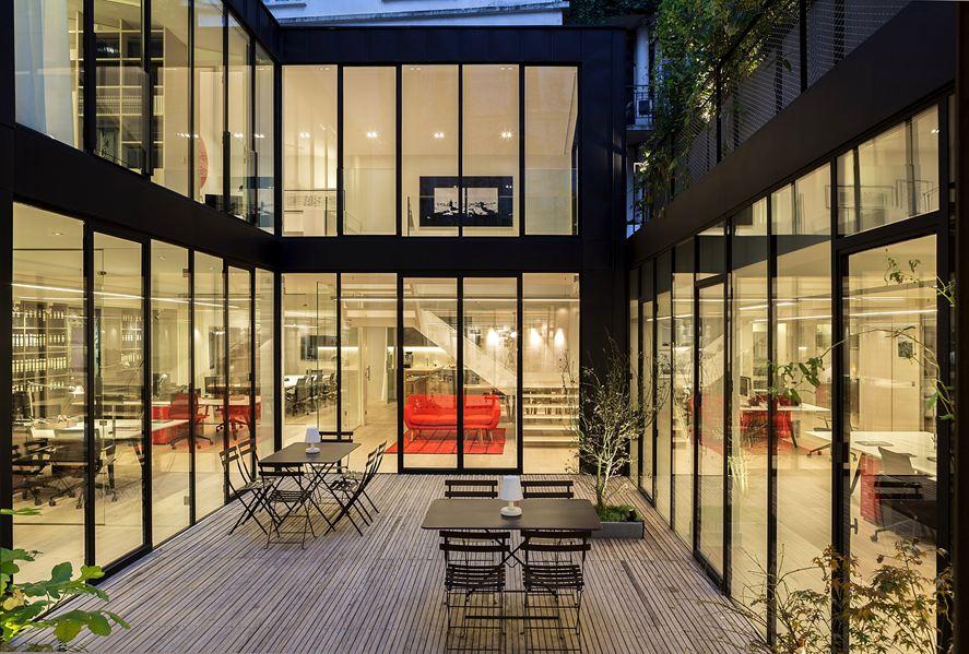 bureaux à l'honneur : PCA agency vue de la terrasse