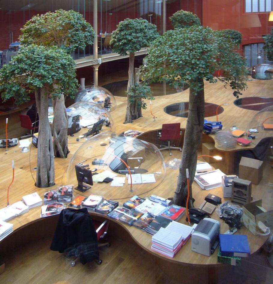 bureaux à l'honneur : PONS & HUOT Green Office vue des bulles