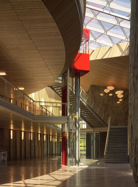 bureaux à l'honneur : siège mondial Rossignol vue de l'intérieur