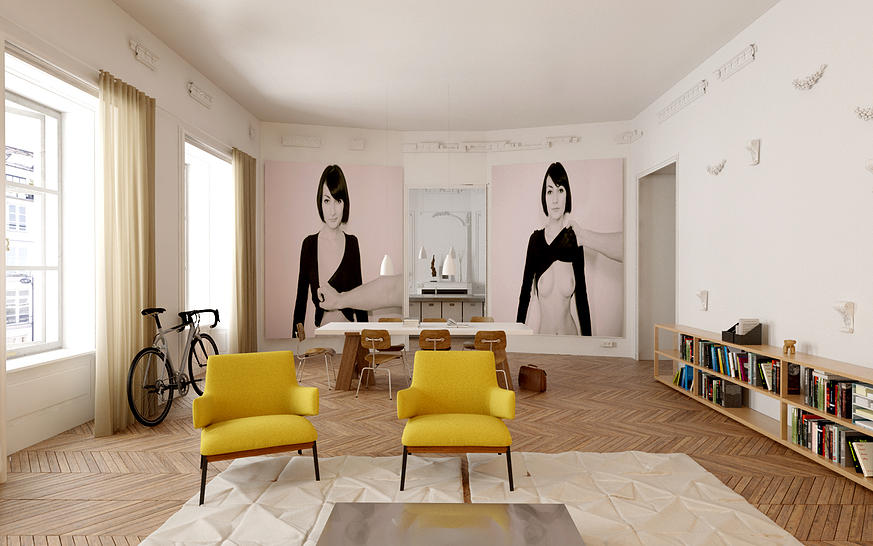 Les 10 plus belles r novations d 39 appartement de paris - Interieur appartement parisien ...