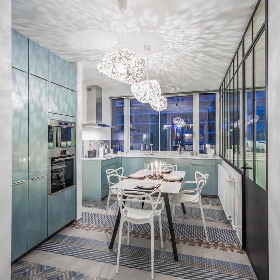 rénovation appartement : vue de la cuisine