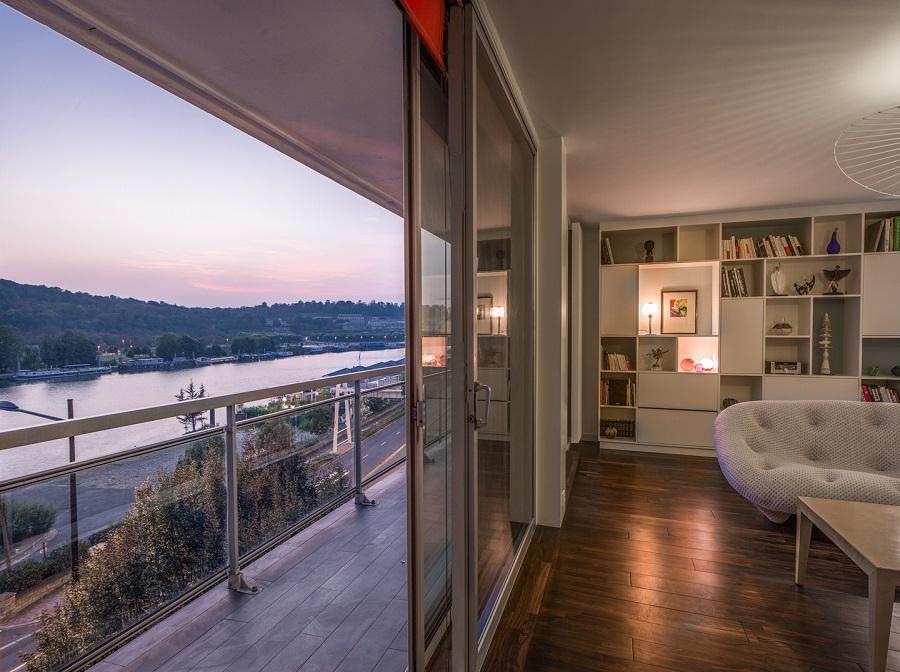 rénovation appartement : vue du balcon