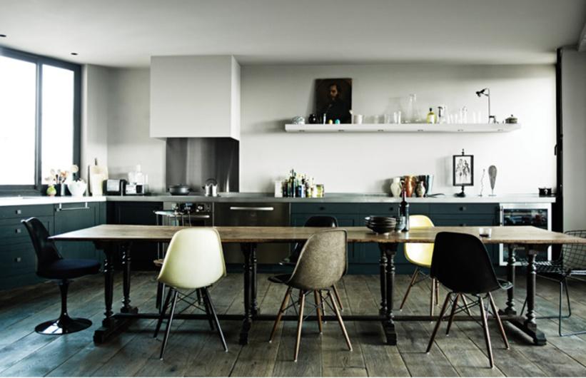 rénovation appartement de Antonio Virga vue de la cuisine