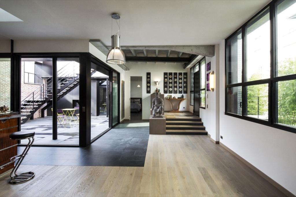 plus beaux lofts : Khora architecture, Loft, Paris 6e vue du salon