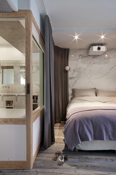 plus beaux lofts : Olivier Chabaud, Loft LK vue de la chambre