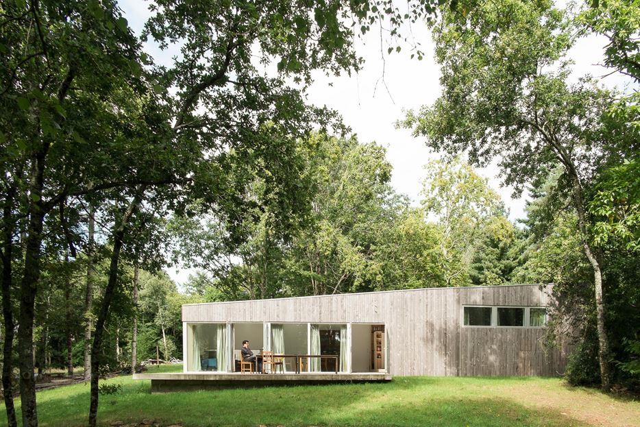 plus belles maisons : Maison JJ&SM vue du jardin