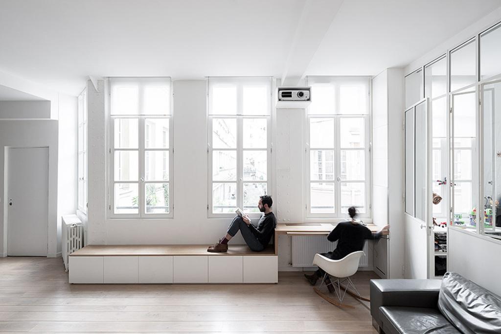 plus beaux lofts : Septembre architecture, Kabinett vue du salon