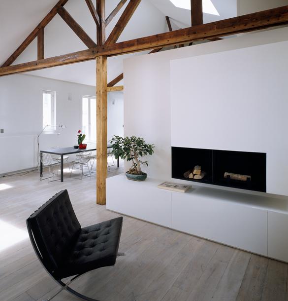 plus beaux lofts : LAN architecture, Loft XX vue du salon