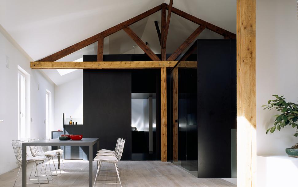 plus beaux lofts : LAN architecture, Loft XX vue de la cuisine