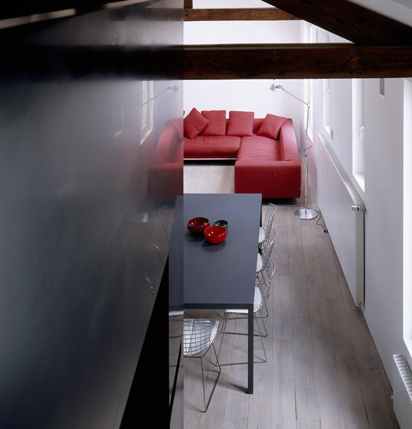 plus beaux lofts : LAN architecture, Loft XX détail de l'étage