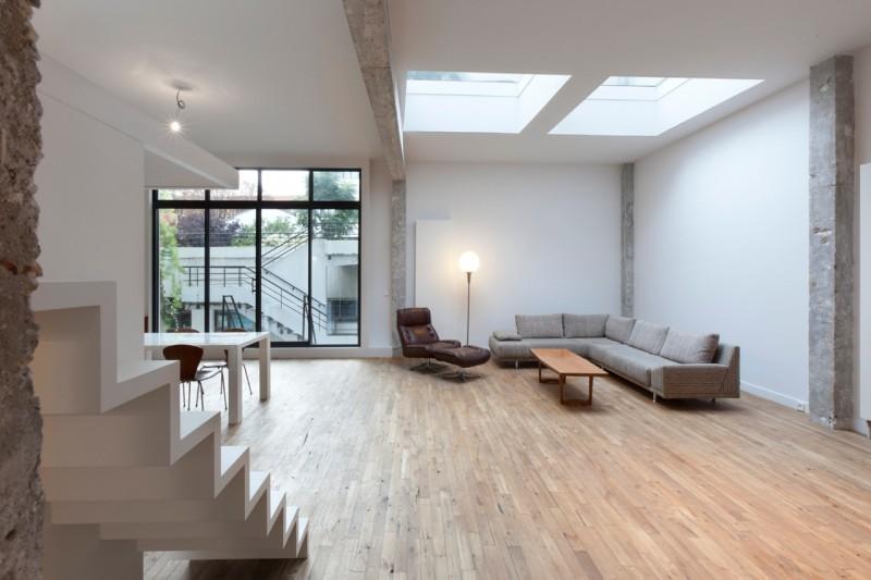 plus beaux lofts : Albino Cipriani, Loft 150m2 vue du salon