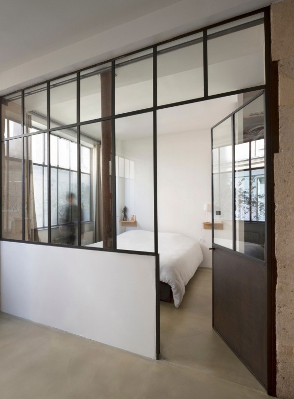 plus beaux lofts : Maxime Jansens, Loft MDP vue de la chambre
