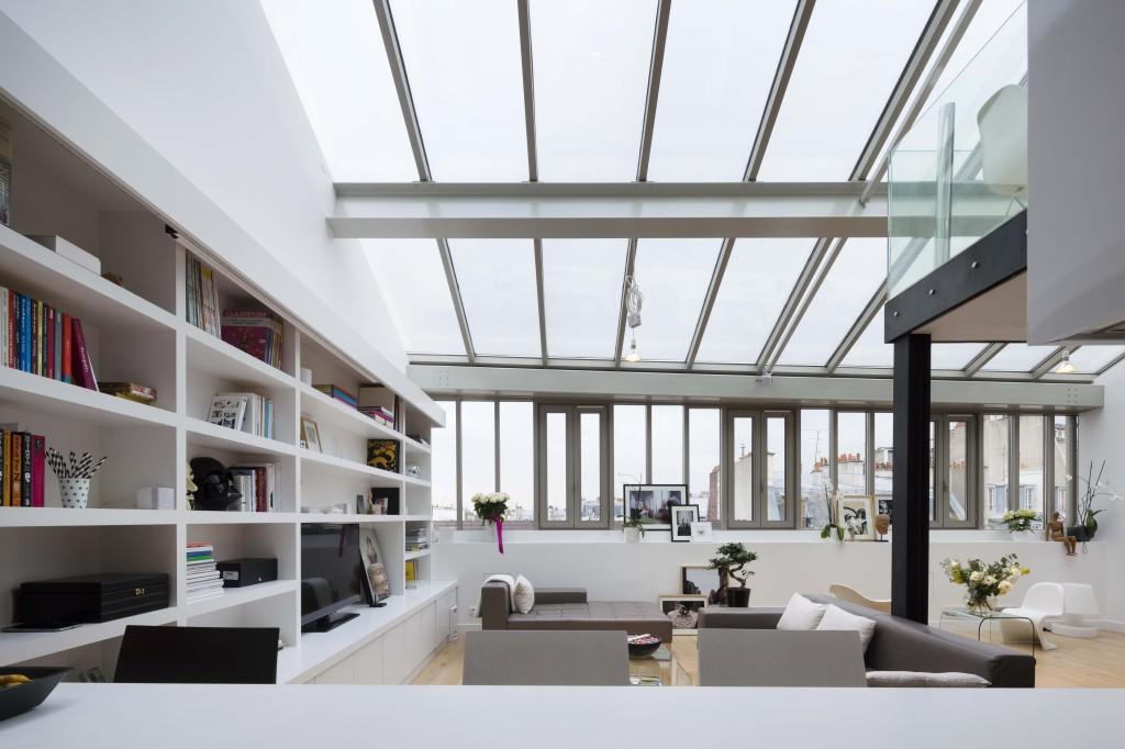 plus beaux lofts : Pablo Katz, Loft, Paris 9e vue du salon