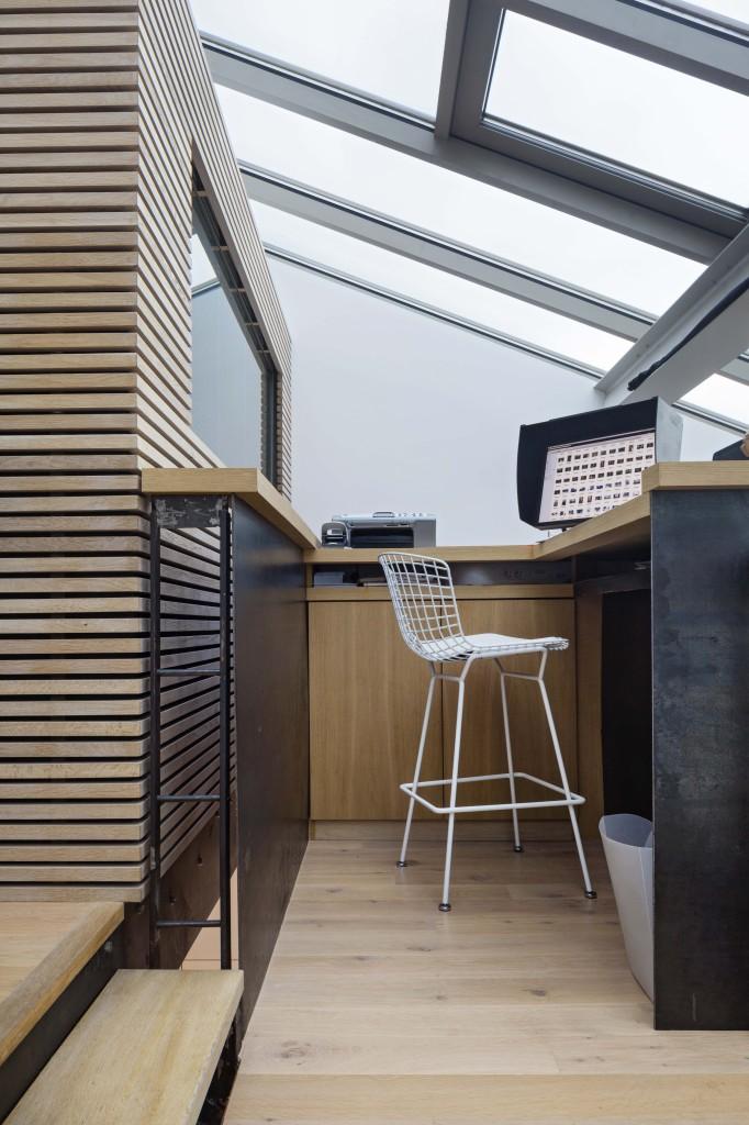 plus beaux lofts : Pablo Katz, Loft, Paris 9e détail du bureau