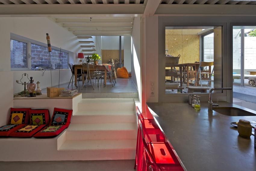 plus belles maisons : Maison Martel vue du salon