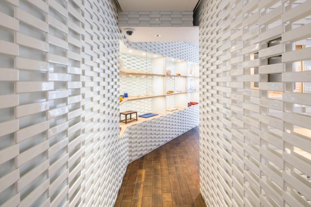 Boutique Shang Xia, Paris vue du couloir