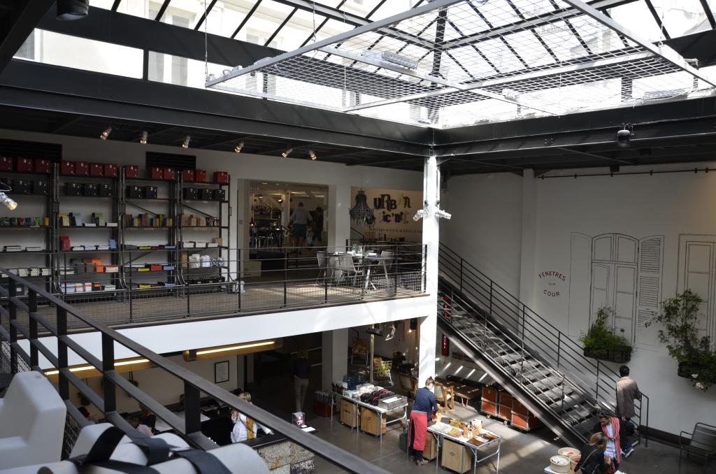 Boutique Merci, Paris vue de l'étage