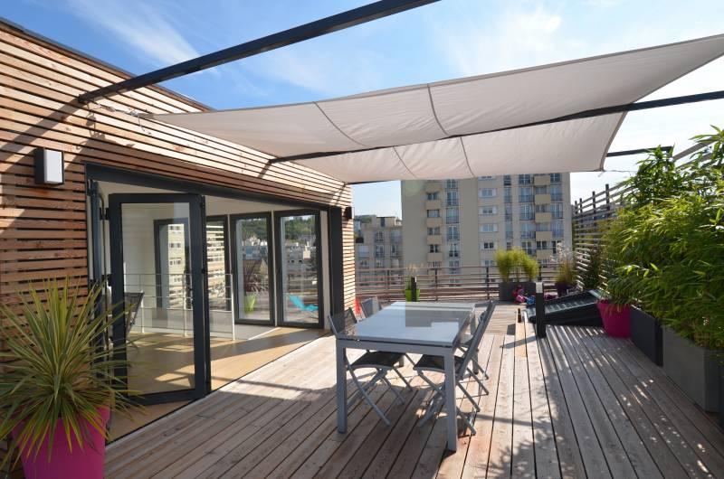 Penthouse de RM architectes vue de la terrasse