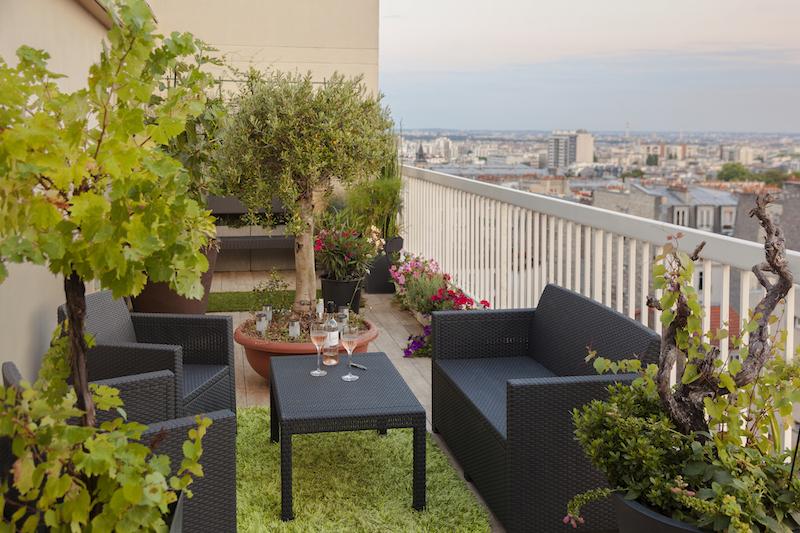 penthouse de glenn medioni vue de la terrasse