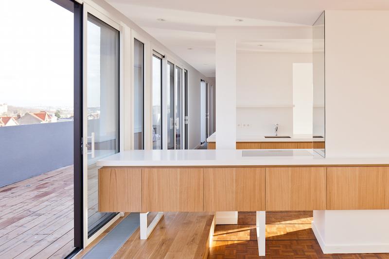 penthouse de saa architectes vue de la salle à manger