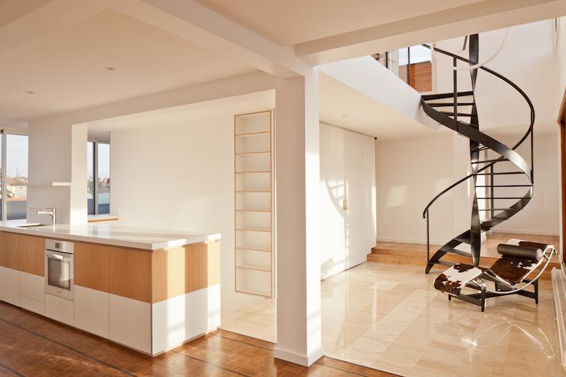 penthouse de saa architectes vue du salon