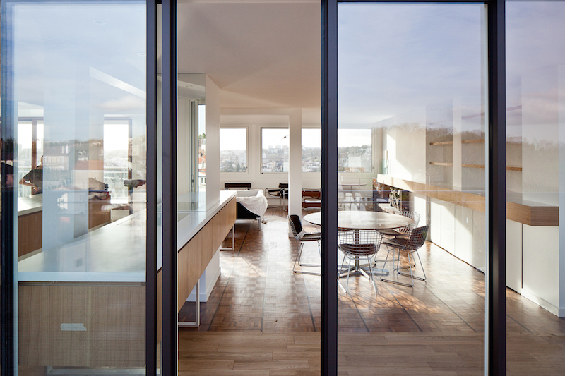 penthouse de saa architectes vue de la terrasse