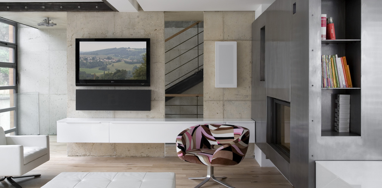Plus belles maisons de paris : projet de Pablo Katz Architecture vue du salon