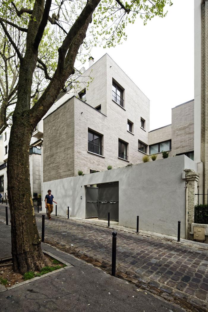 Plus belles maisons de paris : projet de Hardel + LeBihan Architectes vue de la façade