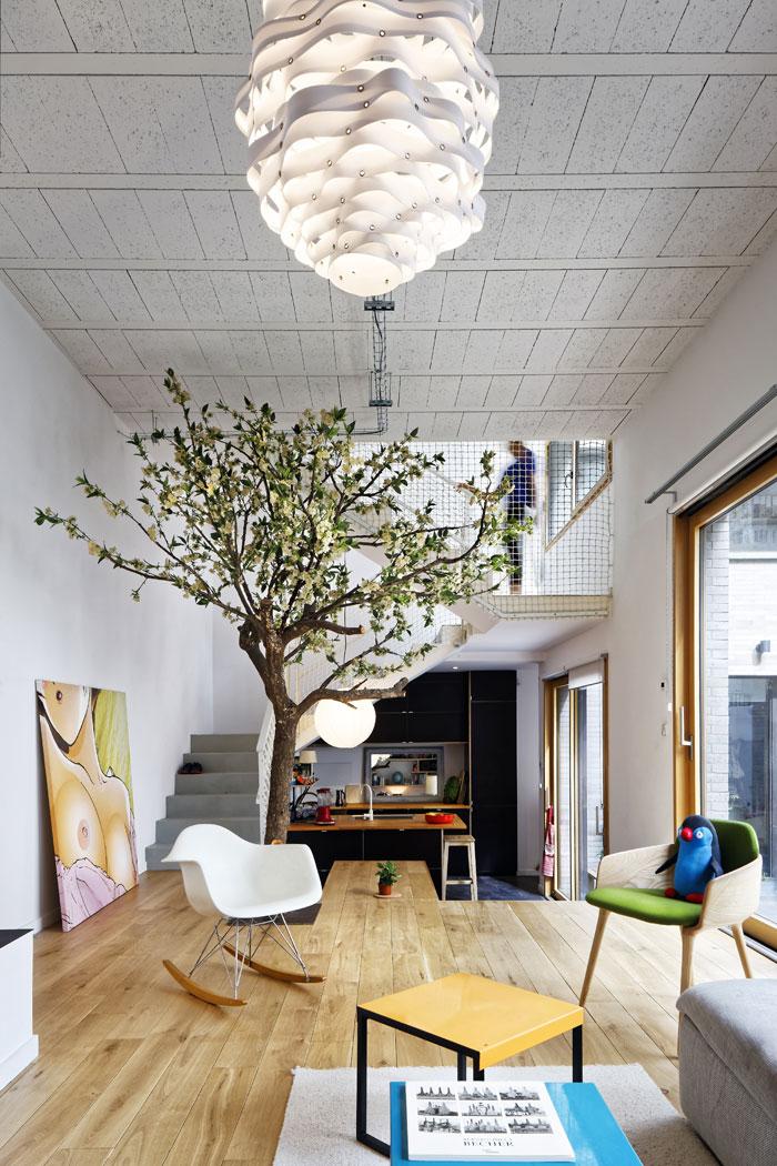 Plus belles maisons de paris : projet de Hardel + LeBihan Architectes vue de l'intérieur