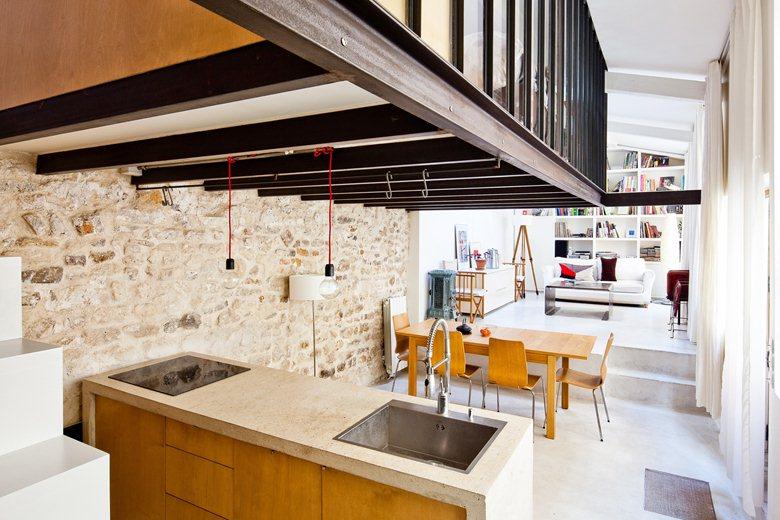 Plus belles maisons de paris : projet de NZI Architectes vue de l'intérieur