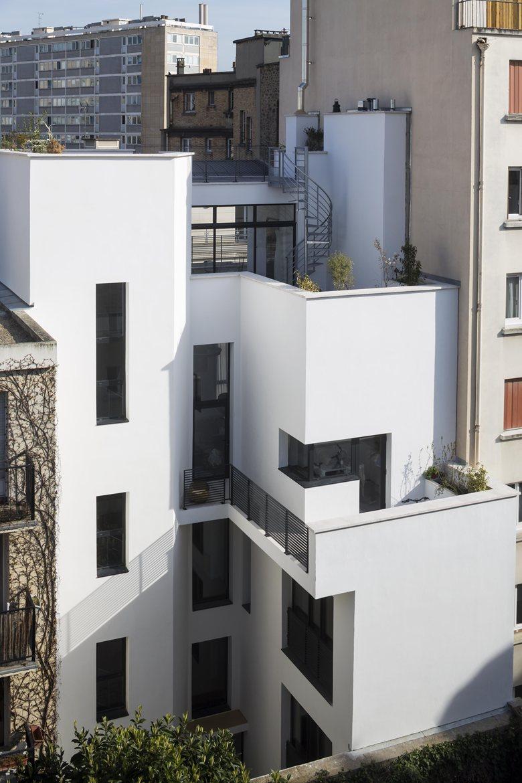 Plus belles maisons de paris : projet de OBAA Architectes vue de l'arrière de la maison