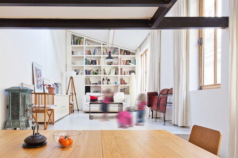 Plus belles maisons de paris : projet de NZI Architectes vue du salon