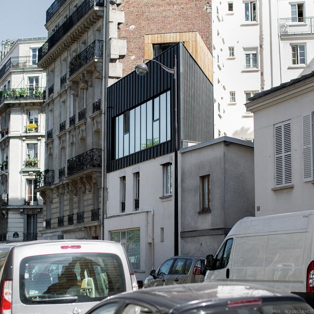 Plus belles maisons de paris : projet de BUMP Architecte vue de la façade