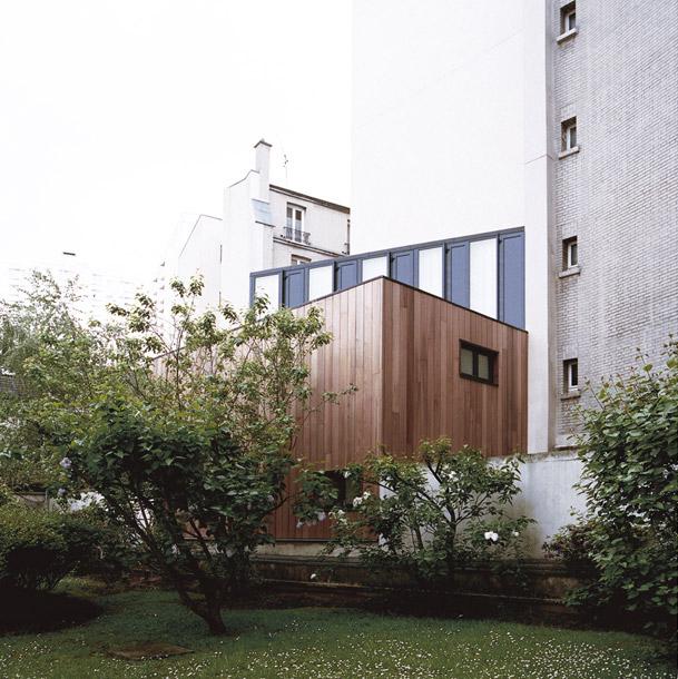 Plus belles maisons de paris : projet de Noël Dominguez Architecte vue de l'exterieur