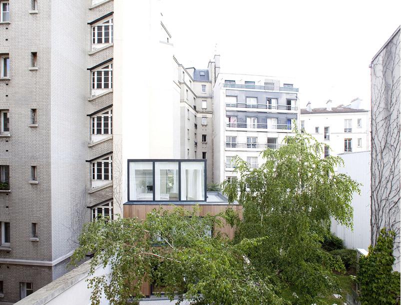 Plus belles maisons de paris : projet de Noël Dominguez Architecte vue de la façade