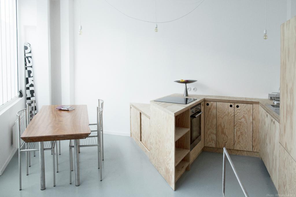 Plus belles maisons de paris : projet de BUMP Architecte vue de la cuisine