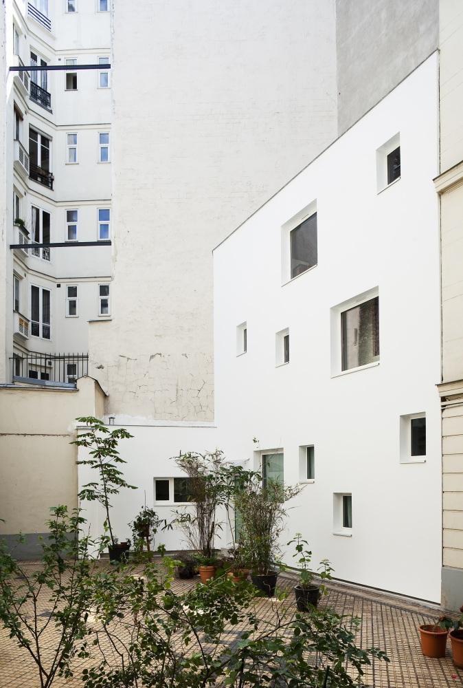 Plus belles maisons de paris : projet de Antonini Darmon Architecture vue de l'exterieur