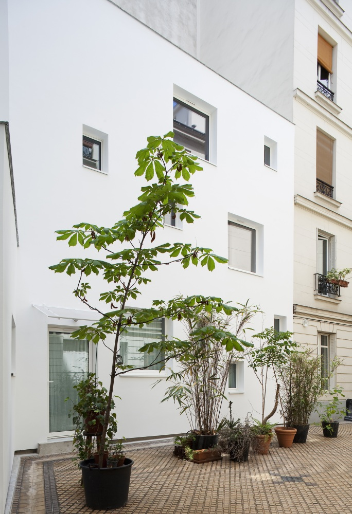 Plus belles maisons de paris : projet de Antonini Darmon Architecture vue de la façade