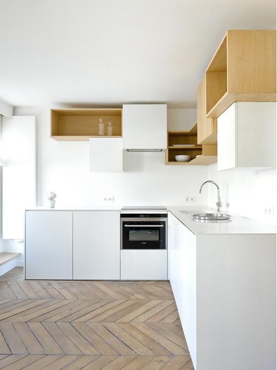 penthouse de capo architectes vue de la cuisine