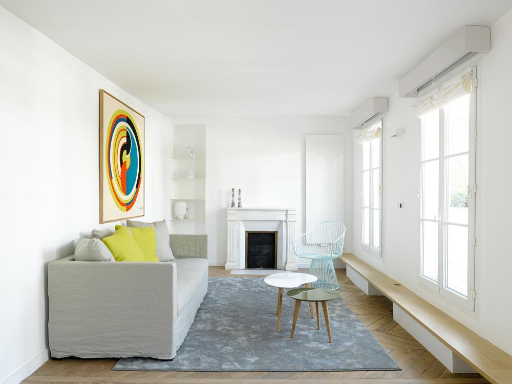 penthouse de capo architectes vue du salon