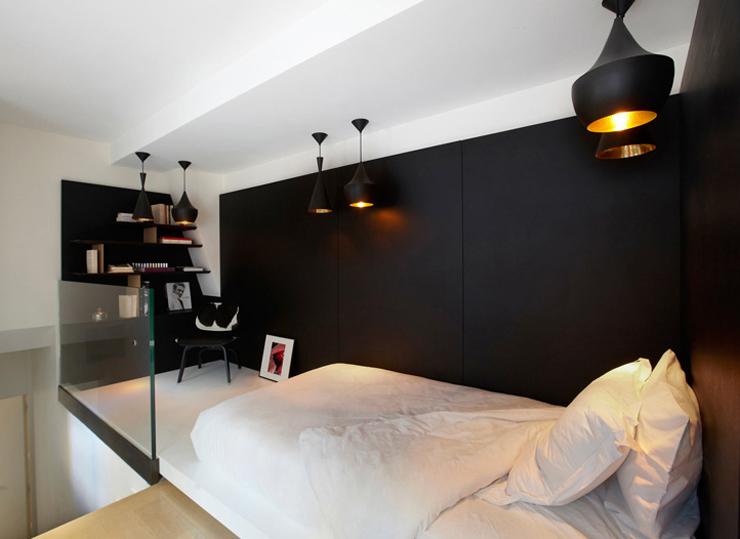 Hôtels particuliers de Paris : réalisé par Bismut & Bismut Architectes, vue de la chambre