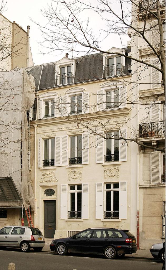 Hôtels particuliers de Paris : réalisé par Hardel Lebihan, vue de la façade