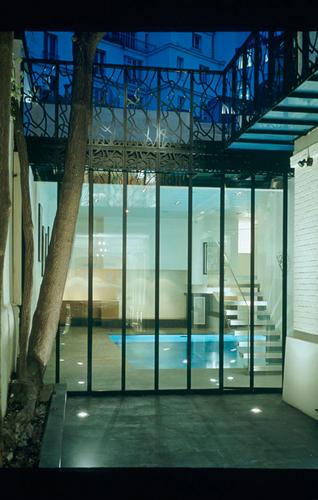 Hôtels particuliers de Paris : réalisé par Lankry architectes, vue de la terrasse