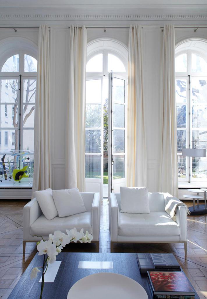 Hôtels particuliers de Paris : réalisé par Bismut & Bismut Architectes, vue du salon