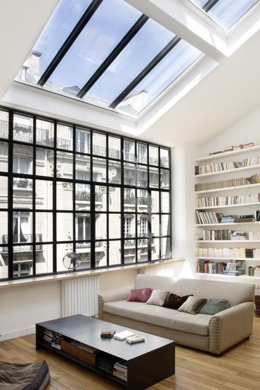 Hôtels particuliers de Paris : réalisé par mka architecture, vue de l'intérieur