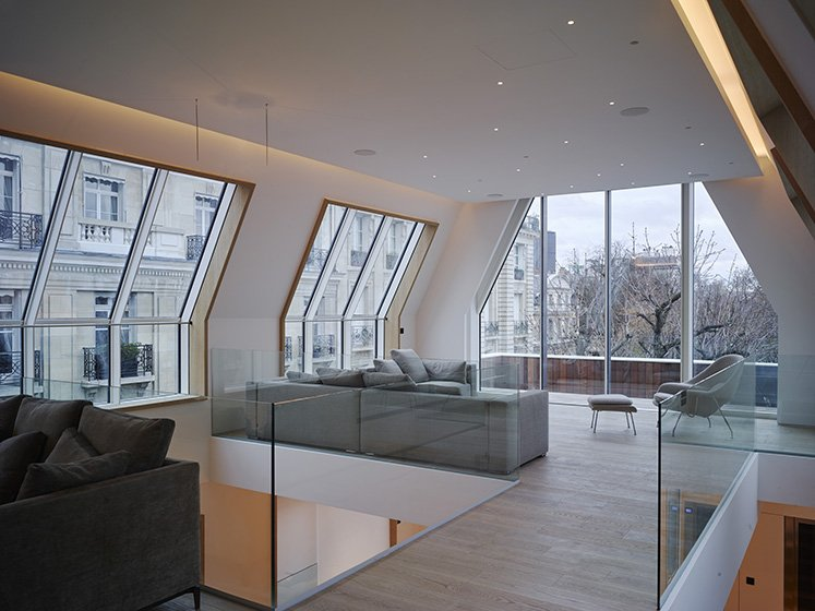 Hôtels particuliers de Paris : réalisé par PCA-STREAM, vue du salon